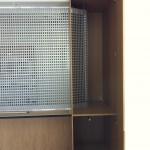 Inbyggd låda för sidogående jalusi